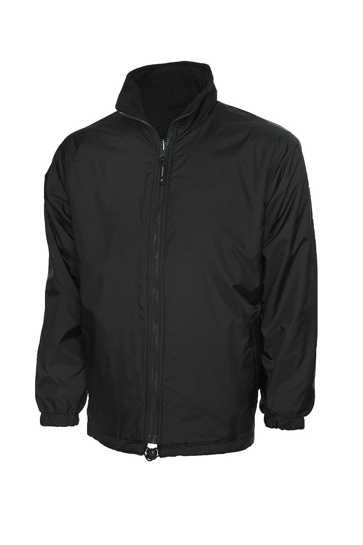 Uneek Clothing-mens-Premium Reversible Fleece Jacket-300 gsm-Black-XL