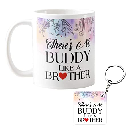 Buy Funky Store Birthday Gifts For Brother Buddy Theam Ceramic Mug Keychain Online At Low Prices In India