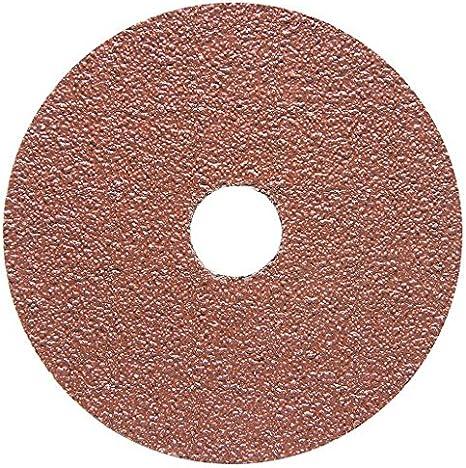 25 Pack 4.5 x 7//8 50 Grit Aluminum Oxide Resin Fiber Sanding /& Grinding Discs