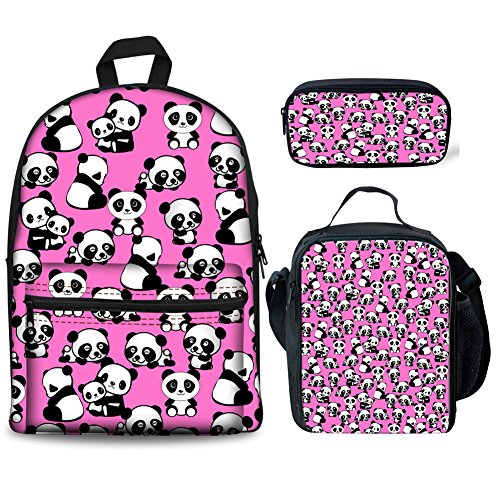 Case Backpack Coloranimal Multicolore H8570J Pup pencil Panda Bag Cartable K Abstract lunch wFxqp4P