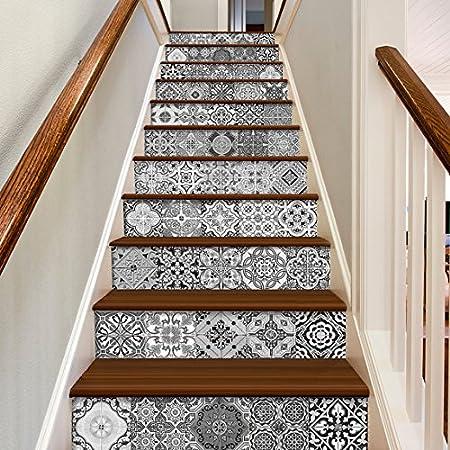 Adhesivos para Azulejos - Paquetes con 48 (15 x 15 cm, Azulejos para Escaleras, Pegatinas Azulejos, Escaleras Decorativas, Azulejos Portugueses, Vinilos Azulejos): Amazon.es: Hogar
