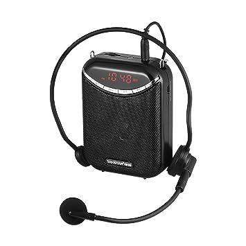 ammoon Amplificador de Voz Recargable con Micrófono TAKSTAR E190M 10W Multimedia Portátil Alámbrico Admite Tarjeta USB