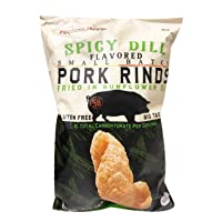 Southern Recipe Gluten Free Pork Rinds Fried in Sunflower Oil 4oz, 2 Pack (Spicy...