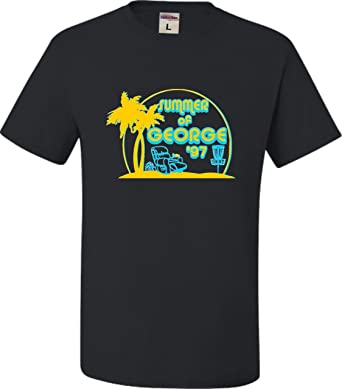 776d0fb1fc9 Go All Out Small Black Adult Summer of George Funny Retro Comedy T-Shirt