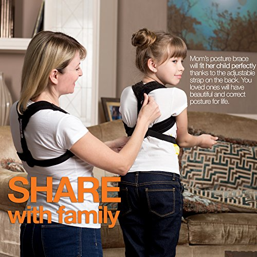 Eatisfit Professional Posture Corrector Back and Shoulder Support for Women and Men. Best Way to Improve Bad Posture, Prevent Slouching and Relieve Pain. Includes Carry Bag by Eatisfit (Image #4)