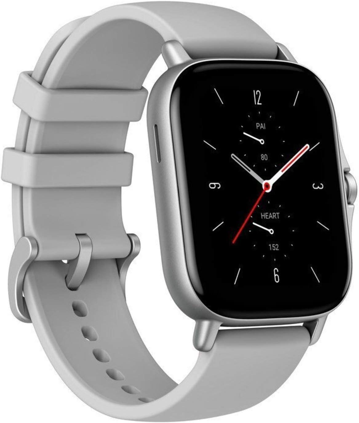 Amazfit GTS 2 Smartwatch Reloj Inteligente con Llamada bluetooth 90 Modos Deportivos Monitor de saturación de oxígeno Sangre y de Frecuencia Cardíaca Almacenamiento de música de 3 GB,Gris
