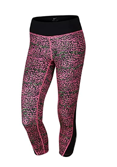 Clothing, Shoes & Accessories Activewear Nike Pro Dri-fit Animal Printed Cropped Athletic Leggings Purple Pink Stretch At All Costs