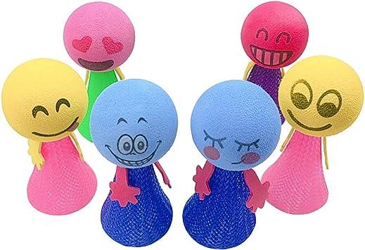 NUOBESTY 6 Piezas Juguete de Saltar Bouncy Ball Bola de Saltar ...
