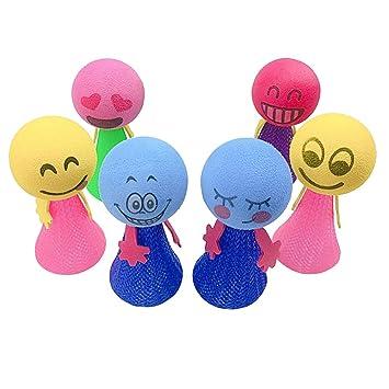 NUOBESTY 6 Piezas Juguete de Saltar Bouncy Ball Bola de ...