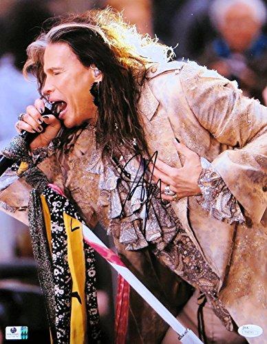 Steven Tyler Signed Autographed 11X14 Photo Aerosmith Singing Scarves JSA -