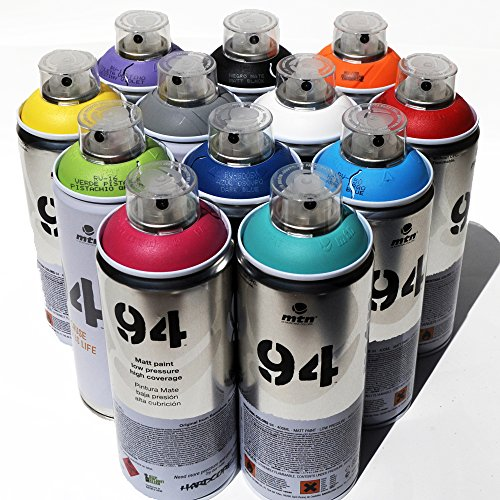 Montana MTN 94 Spray Paint 400ml Popular Colors Set of 12 Gr