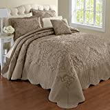 BrylaneHome Amelia Bedspread (Taupe,King)