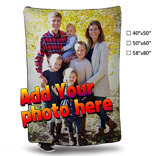 NICTIME Personalized Custom Fleece Blanket Throw Add Your Photo Print Baby Super Warm Bed Blanket (40x50inches)