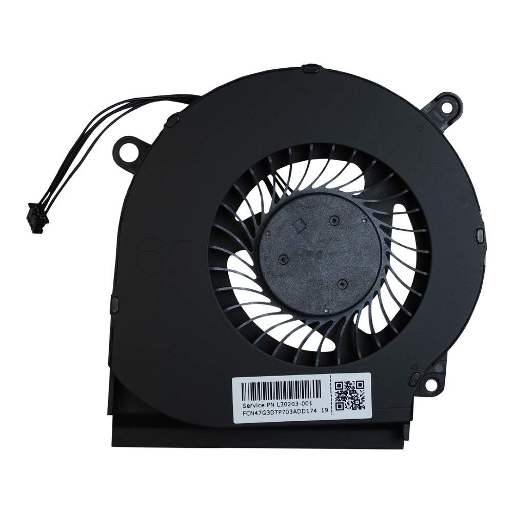 Power4Laptops Ventilateur GPU pour Ordinateurs Portables Convient HP Omen 15-dc0004nf
