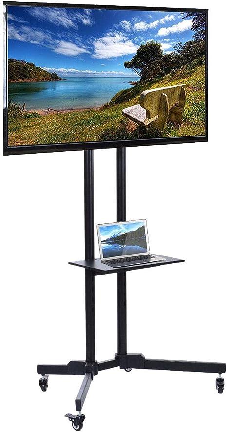Mueble de TV con Rueda, Soporte de TV sobre pie para Pantalla LCD ...