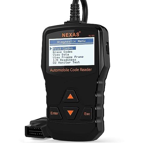 Diagnosis Automovil Escáner NEXAS NL100 Apagar La Luz Del Motor Maquina de Diagnosis Multimarca Verificar el