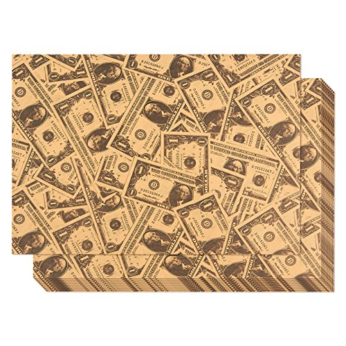 - Kraft Paper Roll - 12-Pack Packing Paper, Dollar Bill Theme Brown Kraft Paper Roll, Brown Wrapping Paper, 27.5 x 19.5 Inches