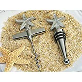 Beach Theme Starfish Wine Opener / Wine Stopper Set - 84 Sets