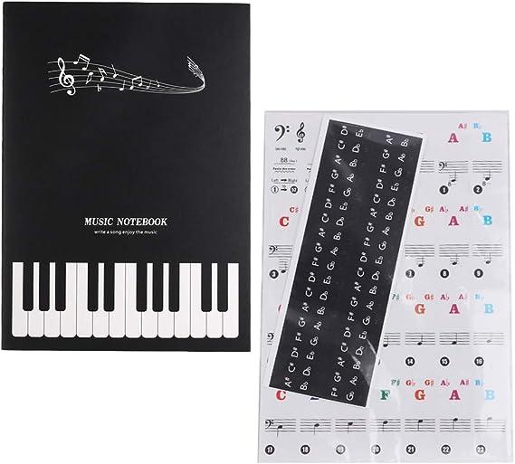Pegatinas de Piano, Pegatinas de Teclas en Blanco y Negro ...