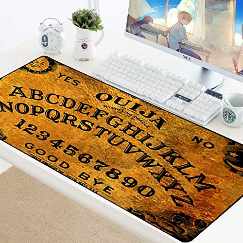Mouse Pad Ouija Board Skin Anti-Slip Durable Gaming XL Large Mousepad for PC Computer Optical Mouse Play Mats Pad Size/Color :OUIJA-001