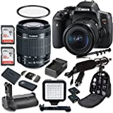 Canon EOS Rebel T6i 24.2 MP Digital SLR Camera with Canon EF-S 18-55mm f/3.5-5.6 IS STM Lens + 2pc SanDisk 32GB Memory Cards + Battery Grip + Promotional Holiday Accessory Bundle