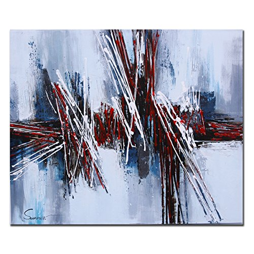Pier 1 Bedroom - Sumeru Abstract Red Paintings Canvas Wall Art Artworks for Home Living Bedroom Office Decoration,1 Piece, 20x30 inch, Stretched and Framed