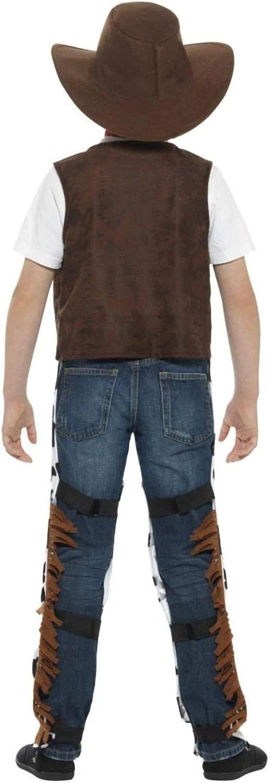 Smiffys Disfraz de vaquero de tela marrón y negro de 48 pulgadas ...