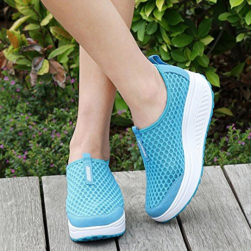 VEMOW Dance up Breathable Lace Shoe Janes Swing Wedges Sky Flats Walking for Flops Mesh Air Loafers Platform Thongs Trainers Women Running Mary Blue Espadrilles Flip Sandals Cute ra0qfr