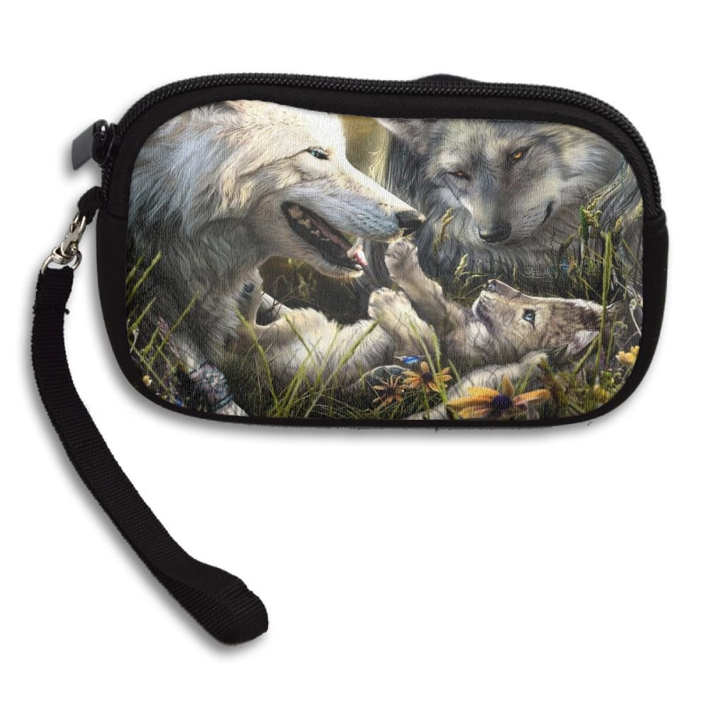Wolf Warm Picture Comfortable Coin Purse Storage Package Wallet Zipper Change Holder Bag Key Wristlet Wallet Handbag Wallet Zipper Mini Wallet For Men & Women