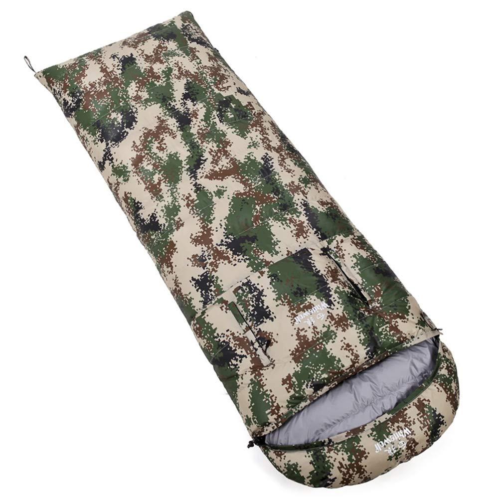 Camouflagegreen 2500g Durable,Breathable,comfortableSleeping Bag, Lightweight Warm Sleep Bags Adults Envelope Comfort Sleep Sack Outdoor Comfort 4 Season Sleeping Pad,Lightpurple,1500g