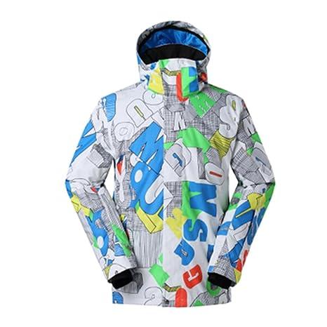 Hzjundasi Hombres Invierno Exterior Sudaderas Traje de esquí Impermeable Snowboard Chaquetas de Viaje Capa de Acampada