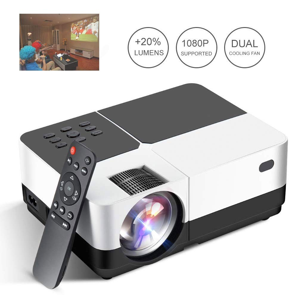 GJZhuan H2 Proyector LED HD 3200 Lúmenes Home Cinema ...