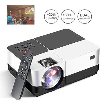 GJZhuan H2 Proyector LED HD 3200 Lúmenes Home Cinema Proyector De ...
