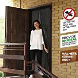 Magnetic Screen Door- Screen Door-Mesh Curtain- Retractable Screen Door-Fly Screen Doors- French Door Screen-Mesh Cartain-Mosquito Out- Fits Door Openings up to 39x82 inch - Toddler And Pet Friendly