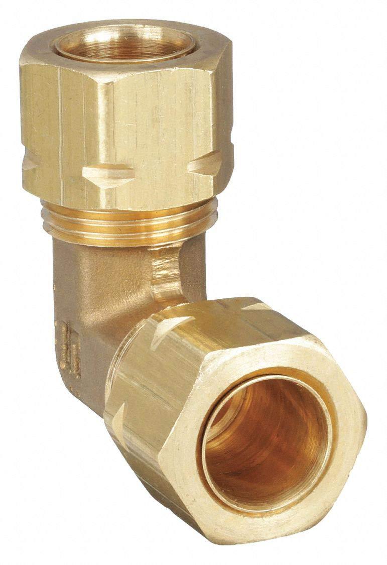 Parker Hannifin 165CA-2 1//8 Tube x 1//8 Tube Brass Compress-Align Union Elbow