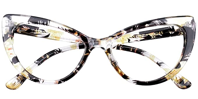 6d37d53168 SOOLALA Womens Oversized Fashion Cat Eye Eyeglasses Frame Large Reading  Glasses