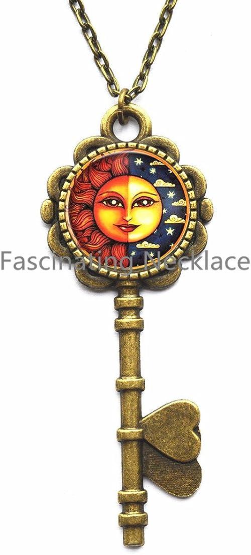 Symbol Locket Necklace Weather Locket Necklace Charm Locket Necklace Happy Gift Sunshine Jewellery Cute,AQ145 Sun Locket Necklace Happiness Jewelry