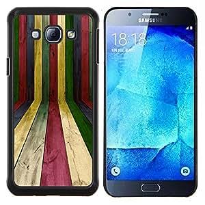 - PASTEL COLORFUL LINES RAINBOW TEXTURE WOOD - Caja del telšŠfono delgado Guardia Armor- For Samsung Galaxy A8 A8000 Devil Case