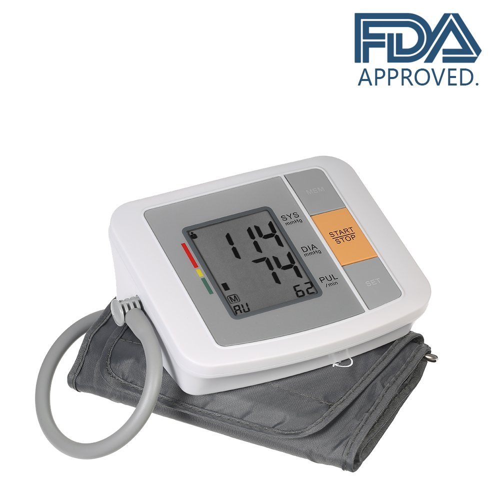 Automatic Upper Arm Blood Pressure Monitors, Portable Sphygmomanometer for Health Monitor