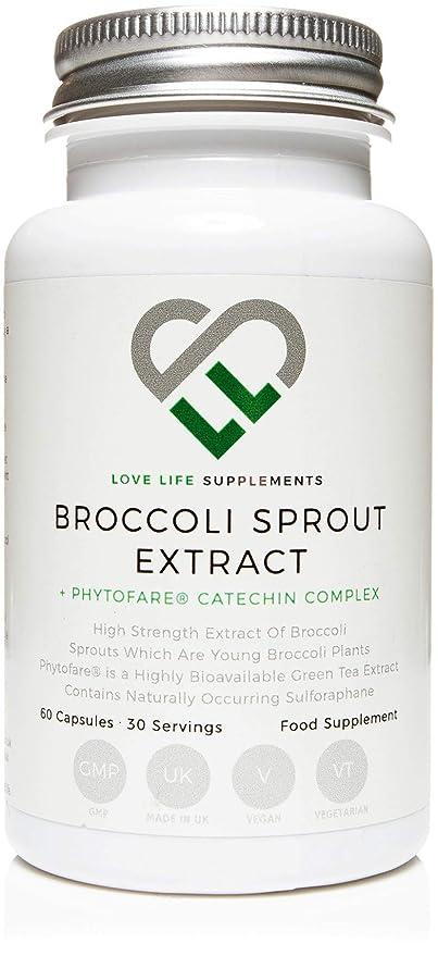 LLS Brote de Broccoli | 60 Cápsulas | 15,000mg por cada 2 Cápsulas | Contenido