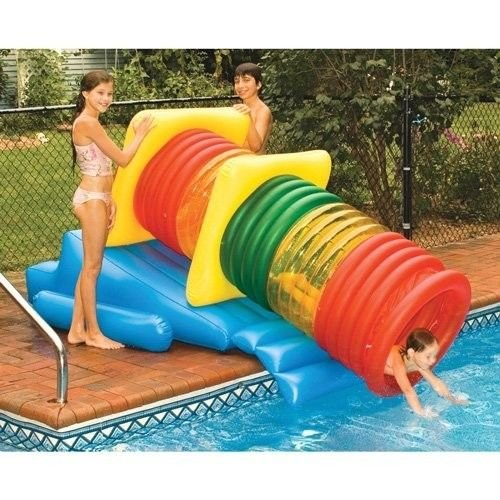 New Shop Water Slide Tube Pool Park Fun Tubing Inflatable Float Diving Toy Fun Games by Backyard