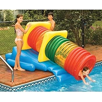 Amazon Com New Shop Water Slide Tube Pool Park Fun Tubing