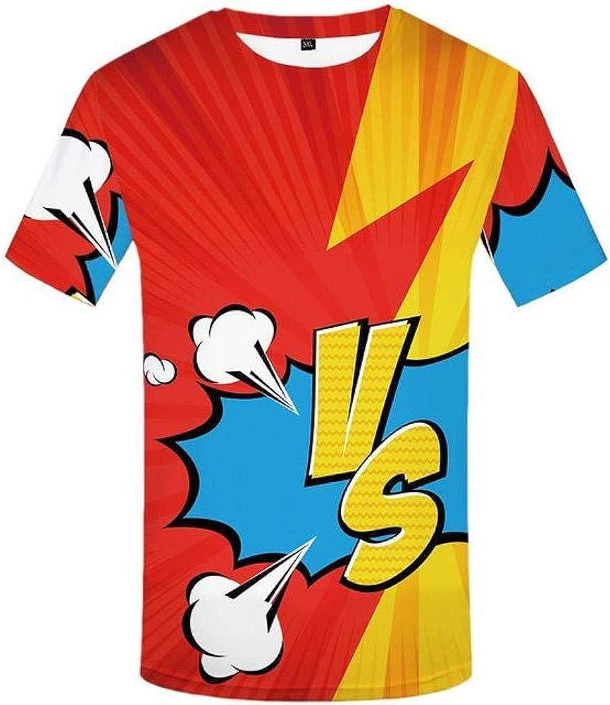 ShAwng 3D Camiseta psicodélica Camiseta Hombres mareos Anime Ropa Colorida Camisa Estampado Rock Camisetas 3D gótico Camisetas Casual: Amazon.es: Ropa y accesorios
