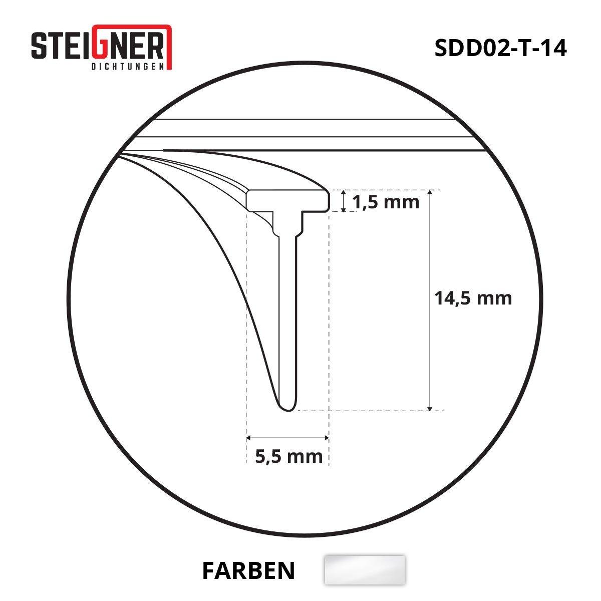 STEIGNER Joint de douche 70cm SDD02 joint en silicone pour la protection contre les fuites deau T-14 transparent