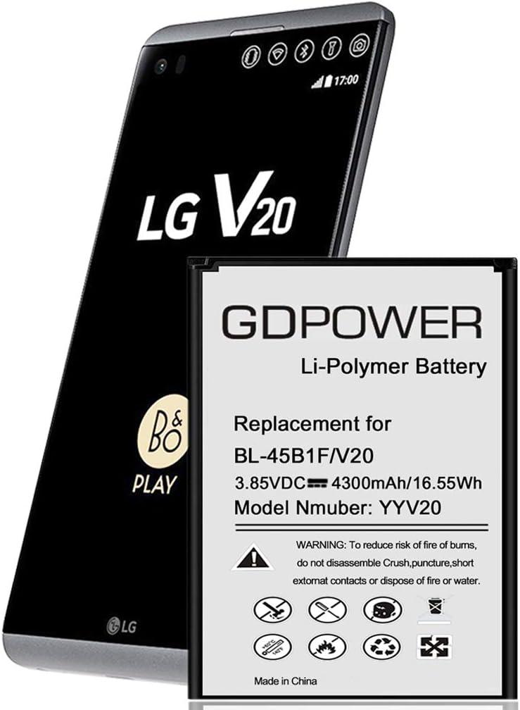 Bateria de celular 4300mAh para LG V20 H910 AT&T, H918