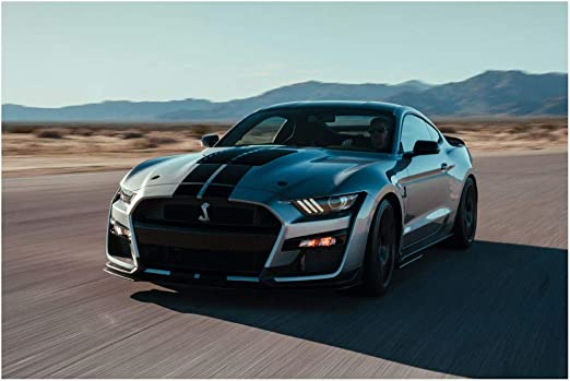 "2020 Ford Mustang Shelby GT500 GT 500 Auto Car Art Wall Poster Print 28/"" X 22/"""