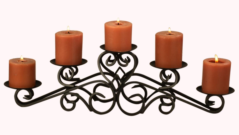 amazon com tripar keller pillar candle holder metal centerpiece