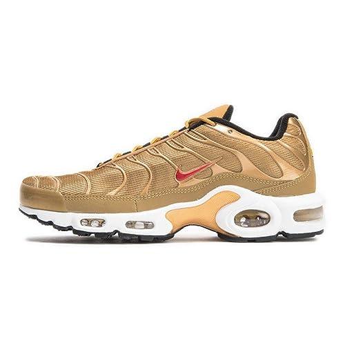 Zapatillas Nike - Air Max Plus QS Dorado/Rojo Talla: 45: Amazon.es: Zapatos y complementos