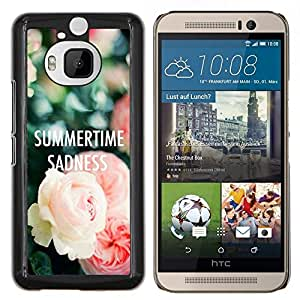 LECELL--Funda protectora / Cubierta / Piel For HTC One M9Plus M9+ M9 Plus -- rosas tristeza texto verano profunda --