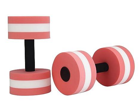 Leegoal (TM) 1 par agua ejercicio aeróbico espuma mancuernas piscina resistencia, equipo de